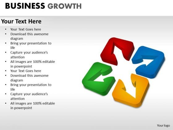 PowerPoint Presentation Designs Teamwork Business Growth Ppt Theme