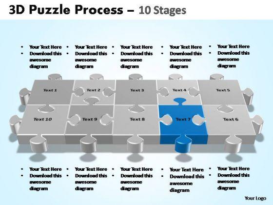 PowerPoint Presentation Designs Teamwork Puzzle Process Ppt Theme
