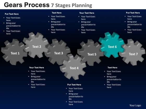 PowerPoint Presentation Diagram Gears Process Ppt Layout