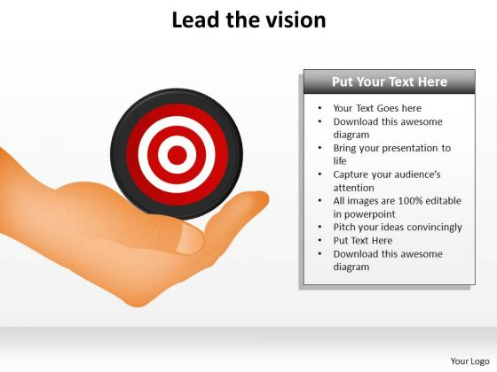 PowerPoint Presentation Diagram Lead The Vision Ppt Backgrounds