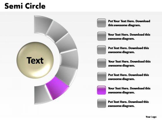PowerPoint Presentation Diagram Semi Circle Ppt Slide