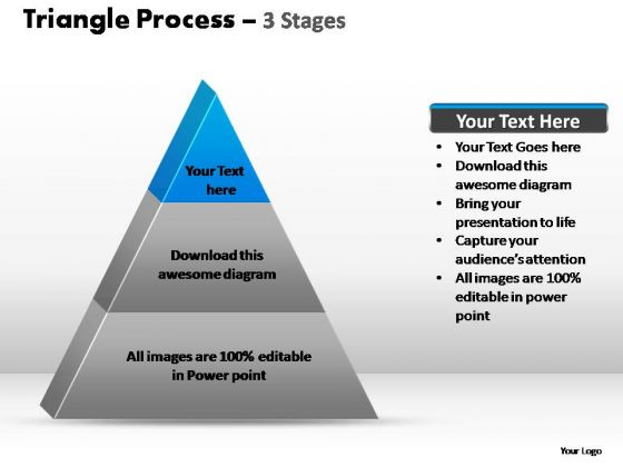 PowerPoint Presentation Diagram Triangle Process Ppt Backgrounds