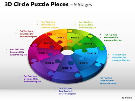 PowerPoint Presentation Download Circle Puzzle Ppt Design