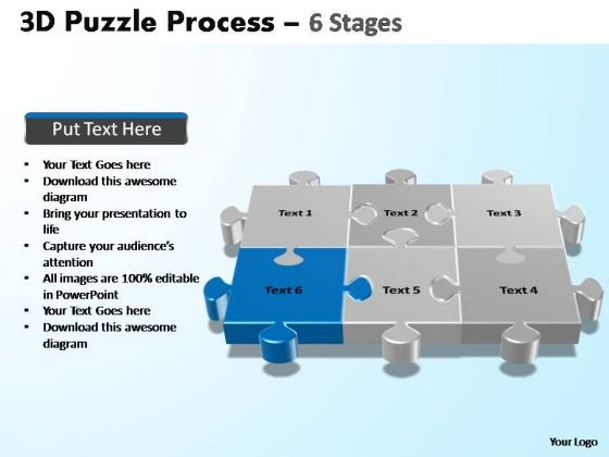 PowerPoint Presentation Download Puzzle Process Ppt Template