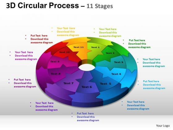 PowerPoint Presentation Editable Circular Process Cycle Ppt Slides