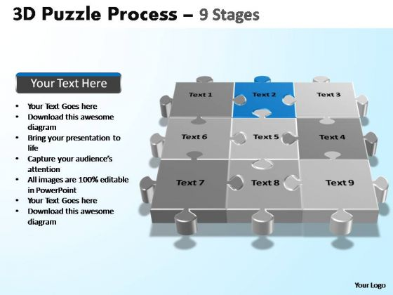 PowerPoint Presentation Editable Puzzle Process Ppt Theme