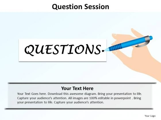 PowerPoint Presentation Editable Question Session Ppt Backgrounds