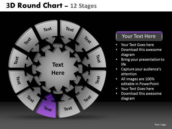 PowerPoint Presentation Editable Round Chart Ppt Design Slides
