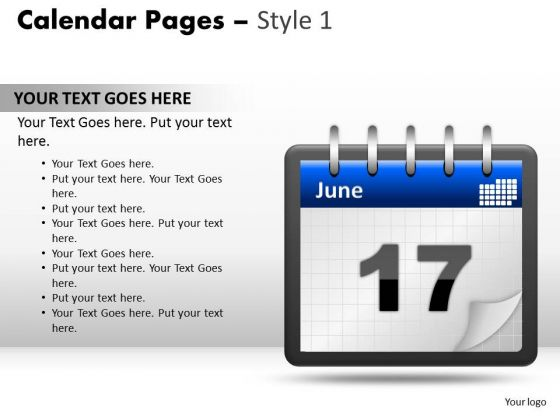 Education PowerPoint Presentation Calendar 17 June Ppt Design Slides