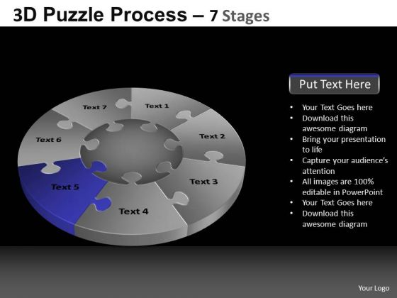 PowerPoint Presentation Education Pie Chart Puzzle Process Ppt Slidelayout