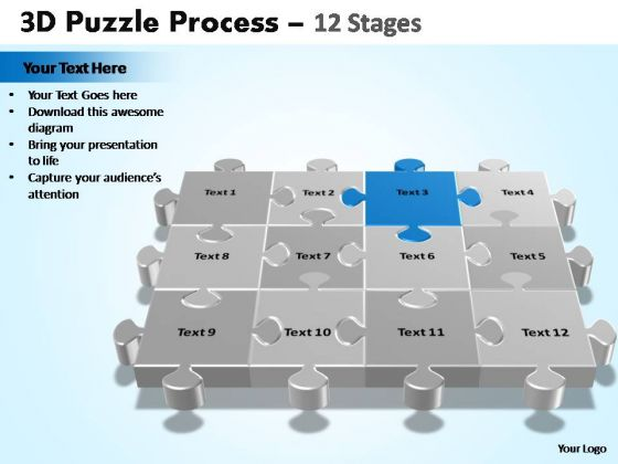 PowerPoint Presentation Education Puzzle Process Ppt Backgrounds