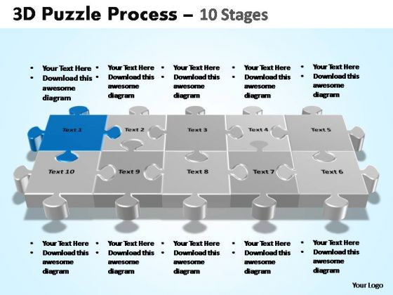 PowerPoint Presentation Education Puzzle Process Ppt Design