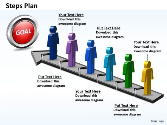 PowerPoint Presentation Education Steps Plan 6 Stages Style 5 Ppt Theme
