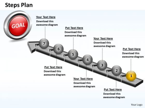 PowerPoint Presentation Education Steps Plan 7 Stages Style 4 Ppt Theme