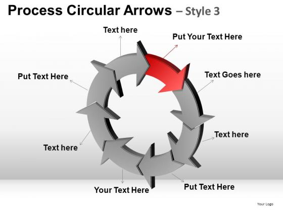 PowerPoint Presentation Executive Strategy Process Circular Arrows Ppt Templates