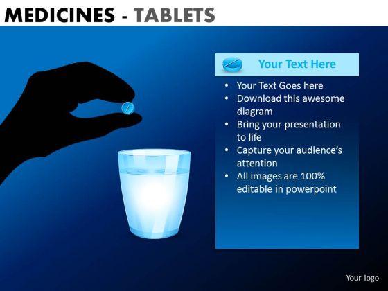 PowerPoint Presentation Executive Teamwork Medicine Tablets Ppt Slide Designs