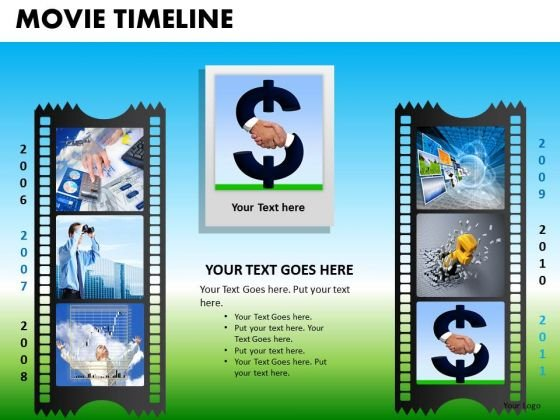 PowerPoint Presentation Filmstrip Company Success Movie Timeline Ppt Layouts