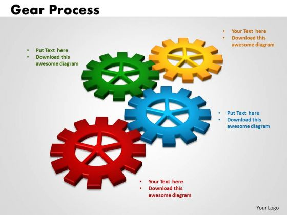 PowerPoint Presentation Gears Process Business Ppt Slides