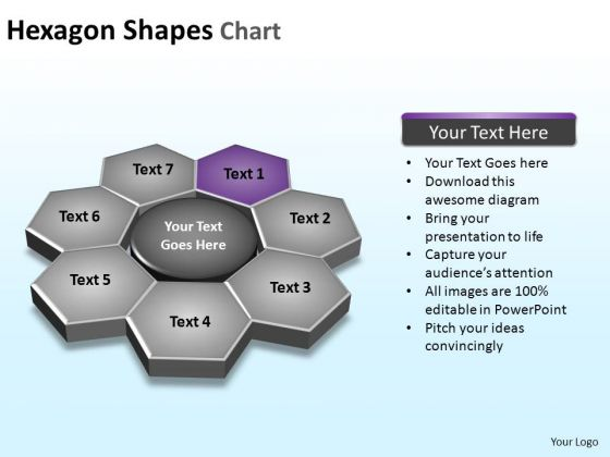 PowerPoint Presentation Graphic Hexagon Shapes Ppt Design