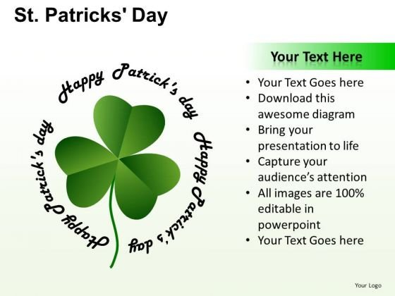 PowerPoint Presentation Graphic Patricks Day Ppt Green
