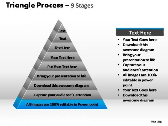 PowerPoint Presentation Graphic Triangle Process Ppt Backgrounds