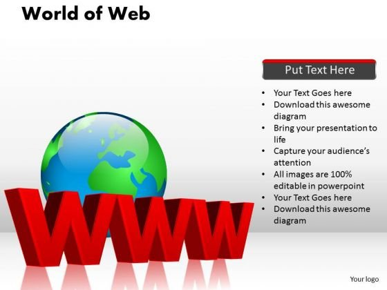 PowerPoint Presentation Graphic World Of Web Ppt Design