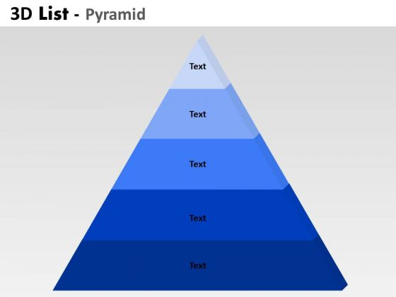 PowerPoint Presentation Growth Bulleted List Pyramid Ppt Backgrounds