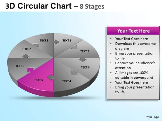 PowerPoint Presentation Growth Circular Ppt Process