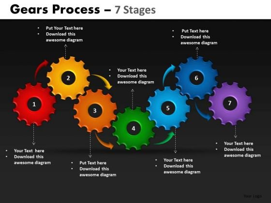 PowerPoint Presentation Growth Gears Process Ppt Themes