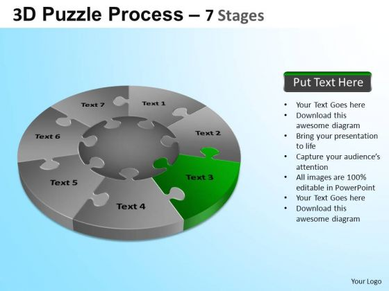 PowerPoint Presentation Growth Jigsaw Pie Chart Ppt Design Slides