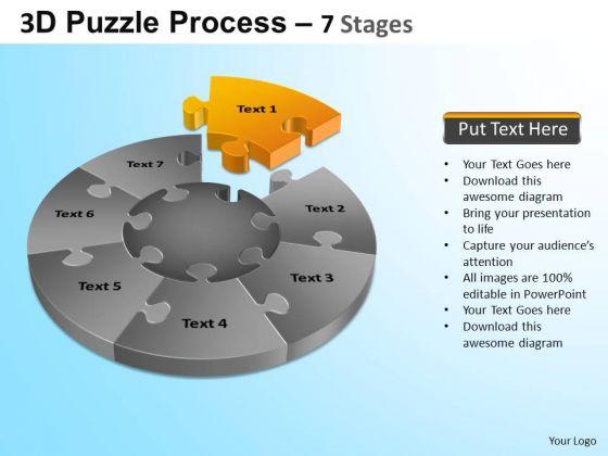 PowerPoint Presentation Growth Jigsaw Pie Chart Ppt Designs