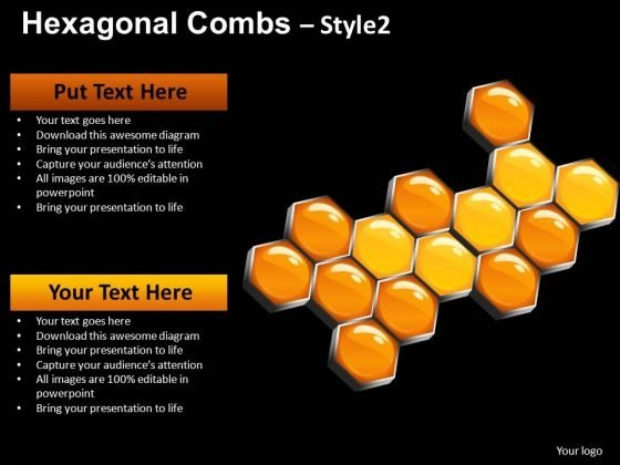 PowerPoint Presentation Hexagonal Combs Education Ppt Design Slides