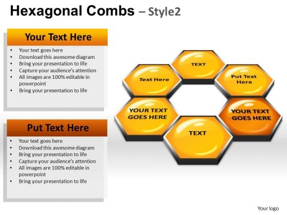 PowerPoint Presentation Hexagonal Combs Leadership Ppt Layouts