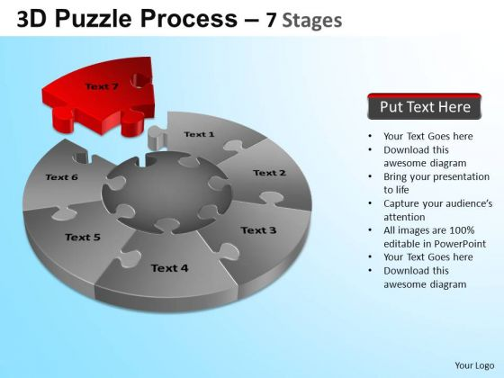 PowerPoint Presentation Image Jigsaw Pie Chart Ppt Templates