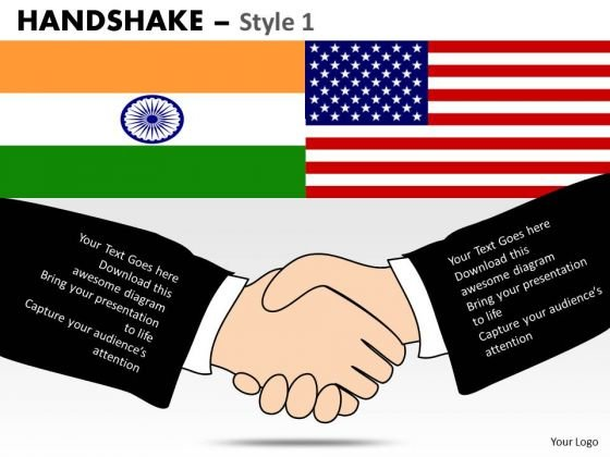 PowerPoint Presentation India Usa Relations Handshake Ppt Themes