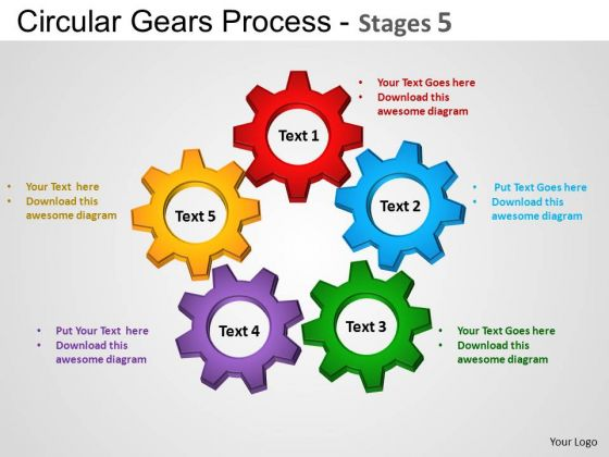PowerPoint Presentation Leadership Circular Gears Ppt Theme