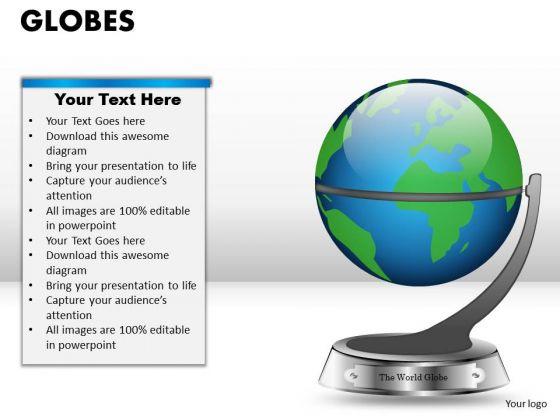 PowerPoint Presentation Leadership Globes Ppt Slides