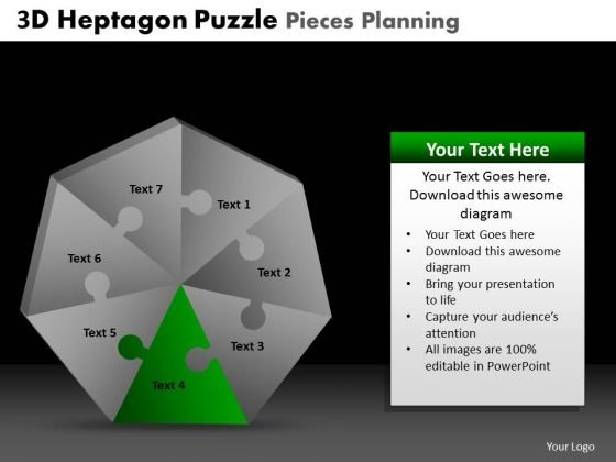 PowerPoint Presentation Leadership Heptagon Puzzle Ppt Templates