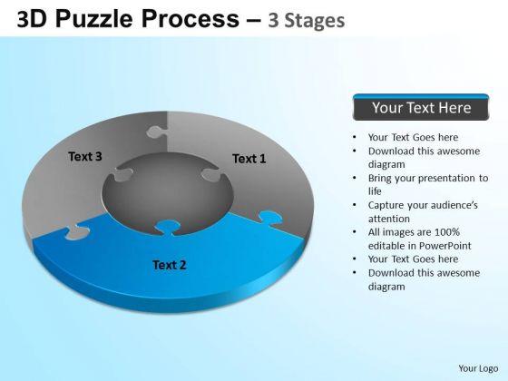 PowerPoint Presentation Leadership Jigsaw Pie Chart Ppt Backgrounds