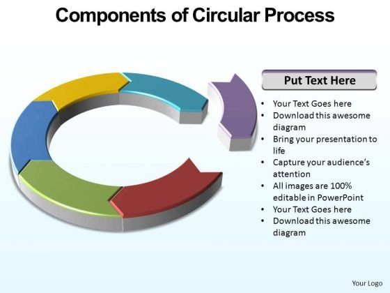PowerPoint Presentation Marketing Circular Process Ppt Slides