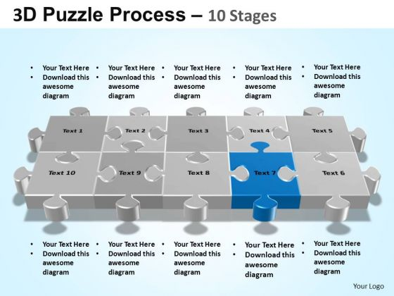 PowerPoint Presentation Marketing Puzzle Process Ppt Theme