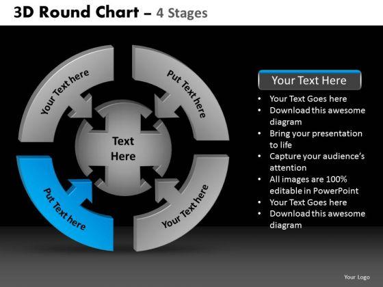 PowerPoint Presentation Marketing Round Chart Ppt Designs