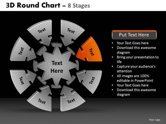 PowerPoint Presentation Marketing Round Chart Ppt Slides