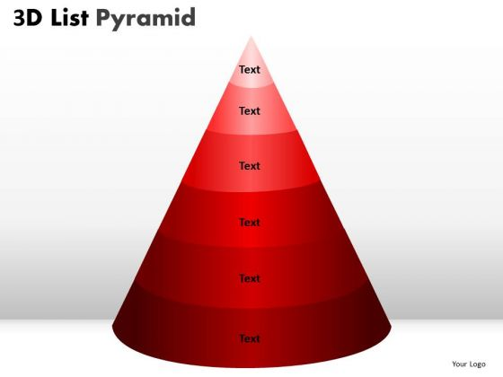 PowerPoint Presentation Process Bulleted List Pyramid Ppt Design