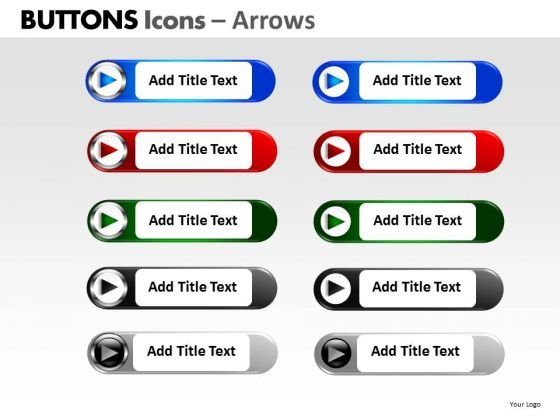 PowerPoint Presentation Process Buttons Icons Ppt Templates