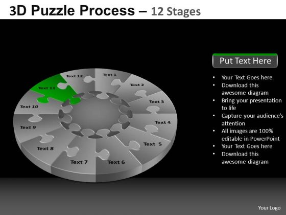 PowerPoint Presentation Process Puzzle Process Ppt Slide Designs