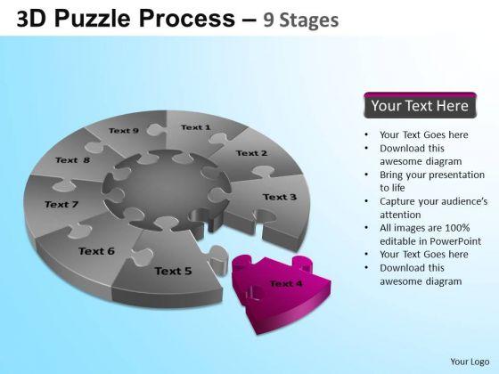 PowerPoint Presentation Process Puzzle Segment Pie Chart Ppt Slide