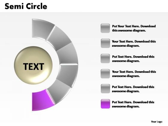 PowerPoint Presentation Process Semi Circle Ppt Theme