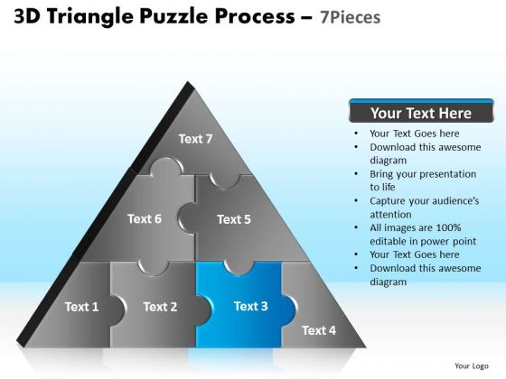PowerPoint Presentation Process Triangle Puzzle Ppt Design Slides
