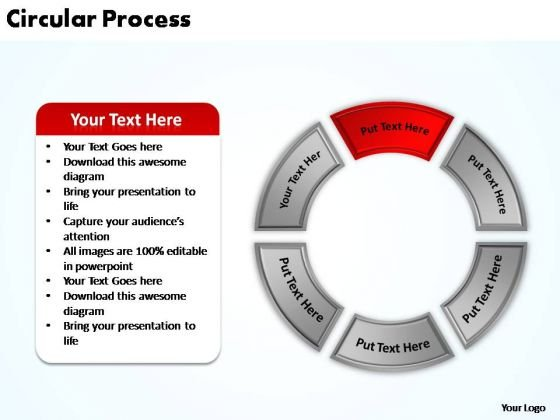 PowerPoint Presentation Sales Circular Process Ppt Slides